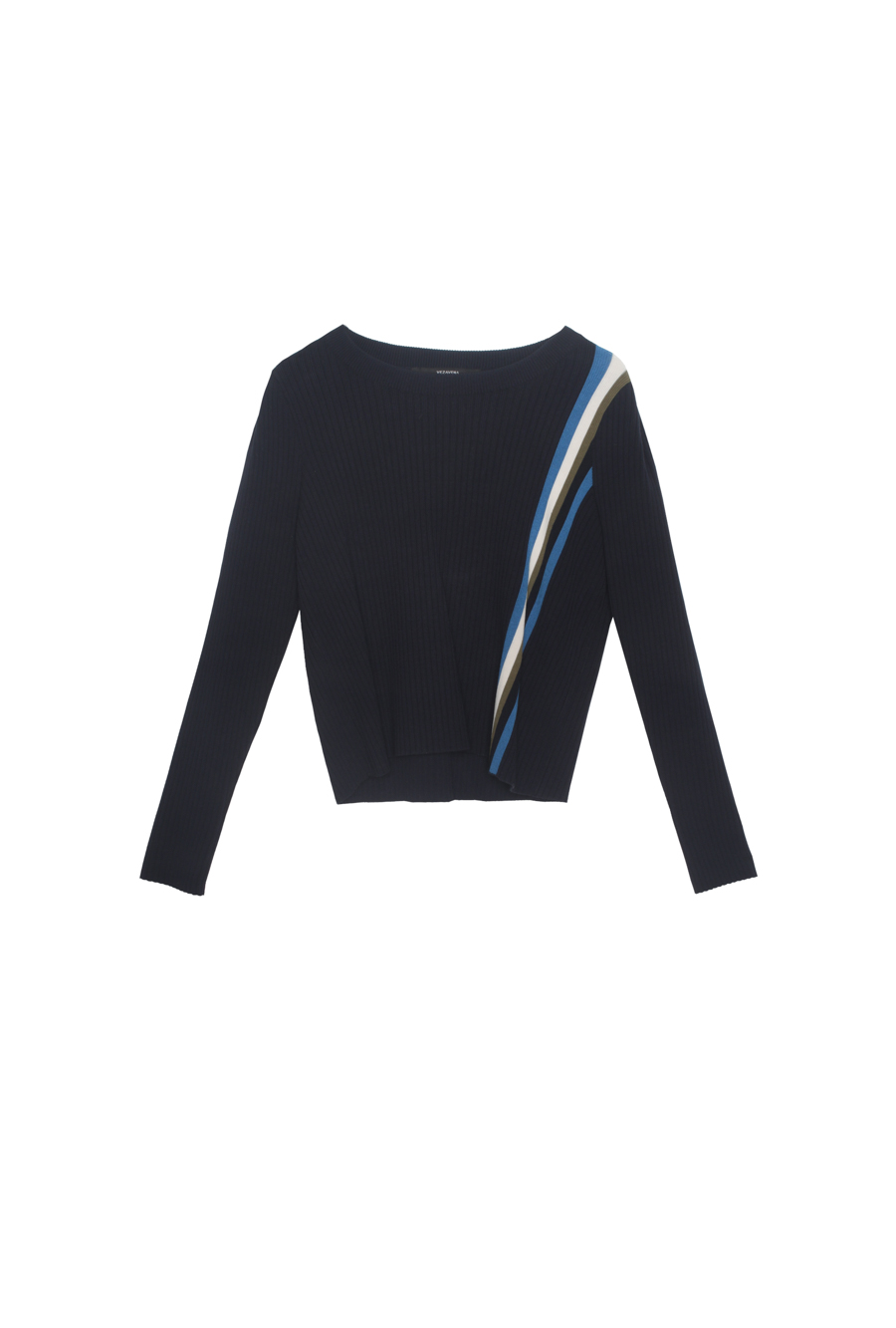 Sweater Crop Lateral Stripes